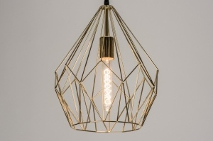 hanglamp 11053: modern, metaal, rond