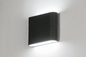 wandlamp 11061: modern, design, antraciet donkergrijs, aluminium