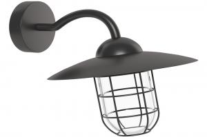 buitenlamp 11106: modern, landelijk, rustiek, zwart