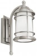 wandlamp 11119: klassiek, staalgrijs, staal rvs, lantaarn