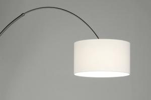 vloerlamp 30011: modern, staal , rvs, stof
