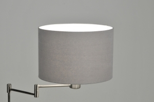 vloerlamp 30085: modern, retro, staal , rvs