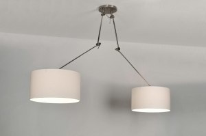 hanglamp 30098: modern, wit, stof, rond