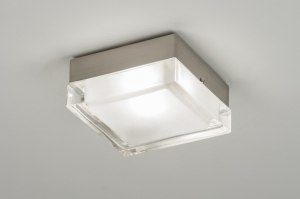 plafondlamp 30216: modern, retro, glas, helder glas