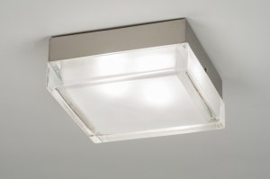 plafondlamp 30217: modern, retro, glas, helder glas