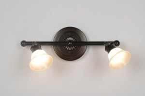 plafondlamp 30246: klassiek, roest, bruin, brons