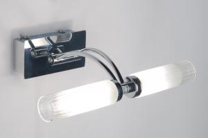 wandlamp 30348: modern, klassiek, glas, helder glas