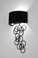 wandlamp 30374: modern, design, metaal, stof