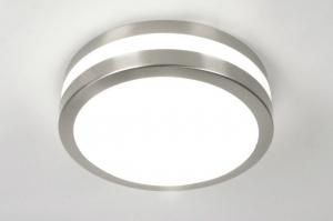 plafondlamp 30390: modern, kunststof, staal , rvs