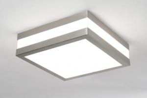plafondlamp 30393: modern, kunststof, staal , rvs