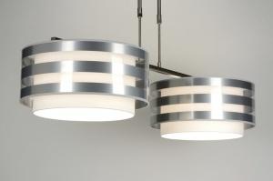 hanglamp 30413: modern, wit, stof, rond