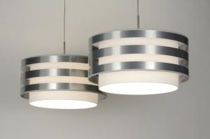 hanglamp 30418: modern, design, wit, stof