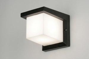 wandlamp 30465: modern, aluminium, kunststof, zwart