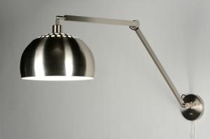 wandlamp 30519: modern, design, staal , rvs