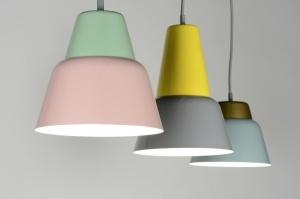 hanglamp 30523: modern, retro, grijs, groen