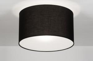 plafondlamp 30525: modern, zwart, kunststof, staal rvs