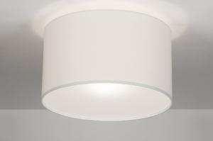 plafondlamp 30526: modern, wit, kunststof, staal rvs