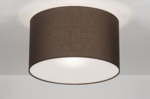 plafondlamp 30528: modern, bruin, kunststof, staal rvs