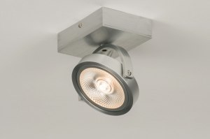 plafondlamp 30532: modern, design, aluminium, rond