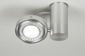 plafondlamp 30543: modern, design, aluminium, rond