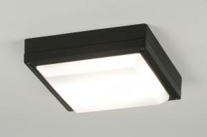 plafondlamp 30554: modern, zwart, aluminium, kunststof