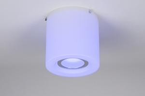 plafondlamp 30634: modern, design, meerkleurig, wit
