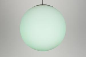 hanglamp 30636: modern, retro, meerkleurig, wit