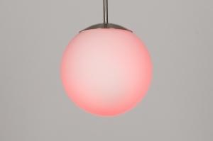 hanglamp 30637: modern, retro, meerkleurig, wit