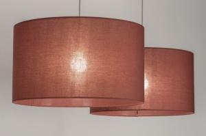 hanglamp 30648: modern, bruin, rood, stof