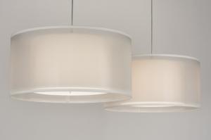 hanglamp 30652: modern, wit, stof, rond