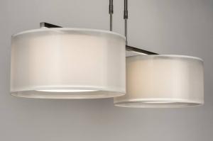 hanglamp 30654: modern, wit, stof, langwerpig