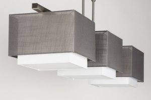 hanglamp 30655: modern, antraciet donkergrijs, grijs, stof