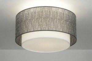 plafondlamp 30657: modern, design, grijs, zilvergrijs