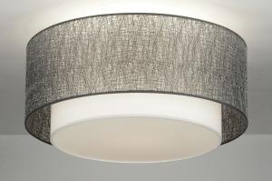 plafondlamp 30658: modern, design, grijs, zilvergrijs