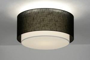 plafondlamp 30659: modern, retro, zwart, metaal
