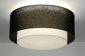 plafondlamp 30660: modern, retro, zwart, metaal