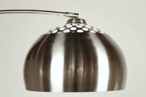 vloerlamp 523: modern, retro, staal , rvs