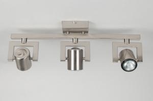 spot 52457: modern, staal , rvs, rond