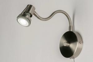 wandlamp 55814: modern, staal , rvs, rond