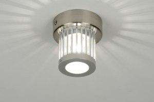 plafondlamp 64471: modern, design, aluminium, glas