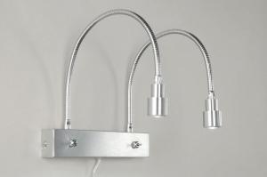 wandlamp 67358: modern, aluminium, metaal, langwerpig