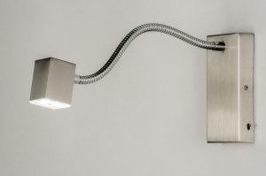 wandlamp 70025: modern, kunststof, staal , rvs