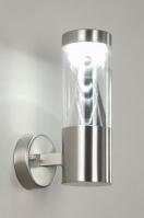 wandlamp 70028: modern, kunststof, staal , rvs