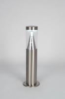 buitenlamp 70030: modern, kunststof, staal , rvs