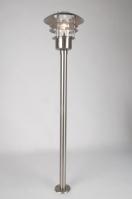 buitenlamp 70051: modern, glas, helder glas, staal rvs