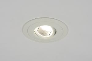 inbouwspot 70200: modern, aluminium, wit, mat