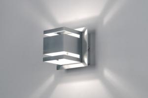wandlamp 70215: modern, design, aluminium, glas
