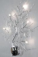 wandlamp 70467: modern, metaal, ovaal