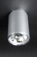 plafondlamp 70486: modern, aluminium, rond