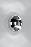 wandlamp 70566: modern, metaal, rond